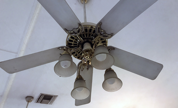 old ceiling fans at ISKCON Alachua temple
