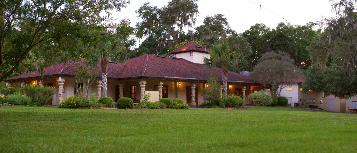 ISKCON Alachua Temple in the evening