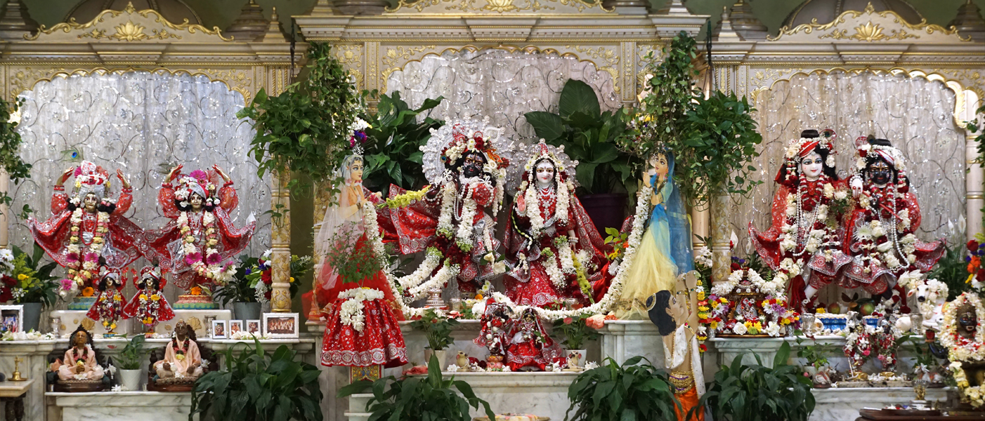 Three Altars at ISKCON Alachua Temple